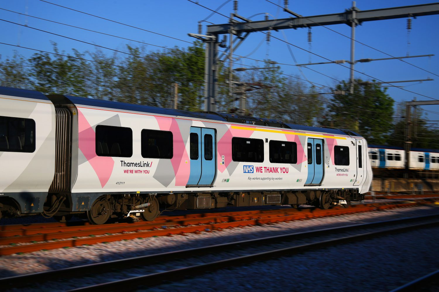 Specially key worker branded Thameslink train